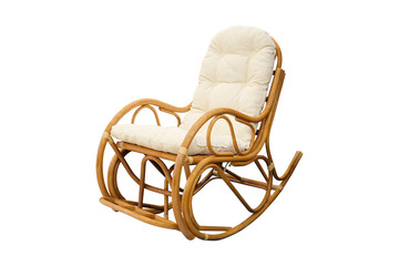 rocking chair isolated under the white background