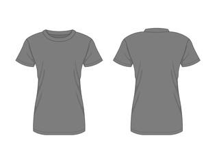 Woman t-shirt. Vector template