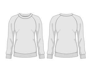 Woman sweatshirt. Vector template