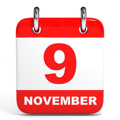 Calendar. 9 November.
