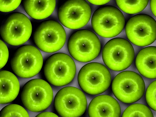 Mele verdi dall'alto