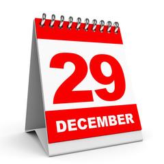 Calendar. 29 December.