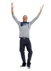 Happy African-American man