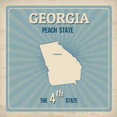 Georgia retro poster