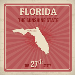 Florida retro poster