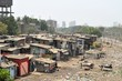 Ramshackle huts in Mumbai's slum Dharavi - 74865358