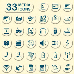 33 jeans media icons