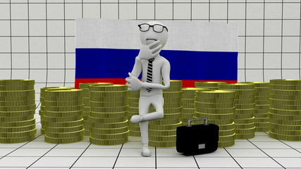 Economy in Russia - finance concept