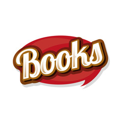 Books sign vector