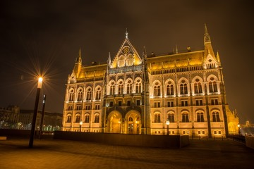 Hungarian Parlament Building at night