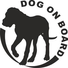Dog puppy on board