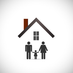 House Family Design Illustration