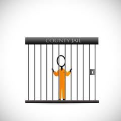 Prisoner In Jail Illustrator