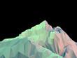 Geometric 3d Mountain - 74867384