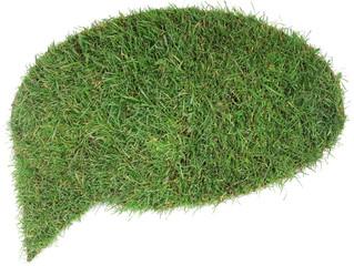 Grass Speech Balloon