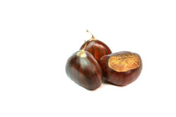 chestnuts three, chesnut isolated details