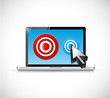 computer laptop and targets illustration