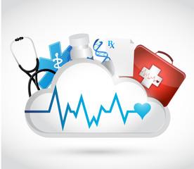 health concept and lifeline illustration