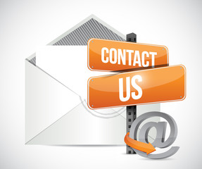 email contact us sign illustration