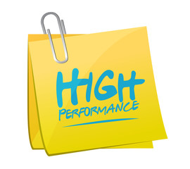 high performance memo post illustration