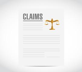 claim contract document illustration