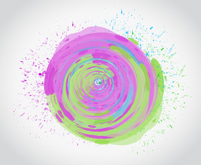 ink color circle illustration design