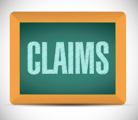 claims board sign illustration design