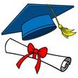 Graduation Cap and Diploma - 74868191