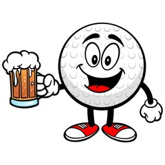 Golf Ball with Beer
