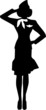 Stewardess Silhouette Person - 74869724