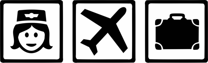 Stewardess Tripple Icons