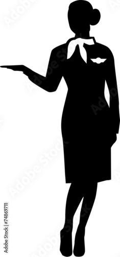 Stewardess Silhouette Person - 74869711