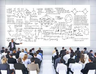 Business People Seminar Mathematic Formula concepts