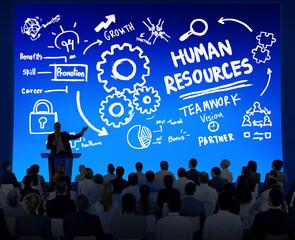 Human Resources Employment Teamwork Business Seminar Concept
