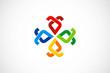 circle abstract decoration ribbon logo vector