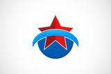 star loop pride success emblem logo vector poster