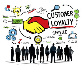 Customer Loyalty Service Support Care Trust Concept