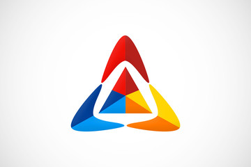 triangle abstract geometry logo vector