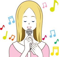 女性 歌う メロディ