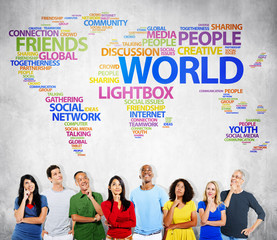 World People Discussion Friends Connection Togetherness Concept