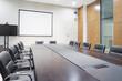 Leinwanddruck Bild - modern office meeting room interior