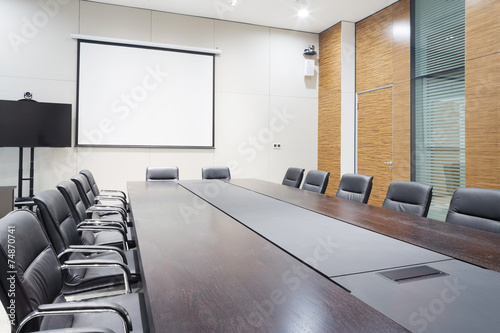 Leinwanddruck Bild modern office meeting room interior