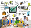 Benefits Profit Income People Meeting Concept