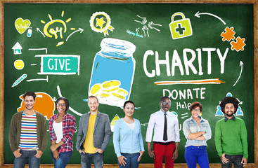 People Give Help Donate Charity Concept