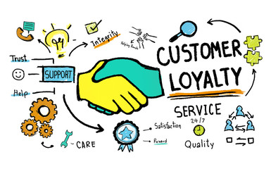 Customer Loyalty Support Care Trust Concept
