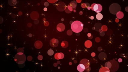 VID - Bokeh Background - Red - Gold