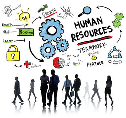 Human Resources Employment Teamwork Business People Commuter Con