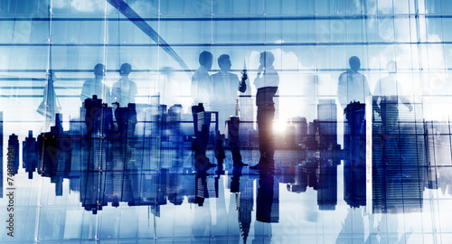 Business People Communication Corporate Office Discussion Planni