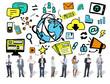 Business People Media Technology Digital Communication Concept