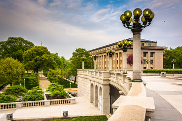 Buildings and gardens at the Capitol Complex in Harrisburg, Penn